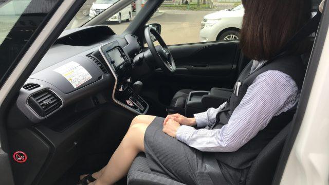 レンタカーご紹介!セレナハイブリッド(S-HYBRID)の助手席